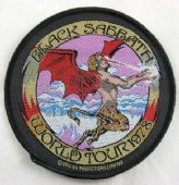 Black Sabbath - 'World Tour 1978'  Woven Patch